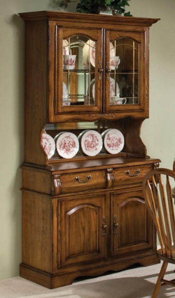 - Classic Oak Small China Cabinet - Intercon-furniture
