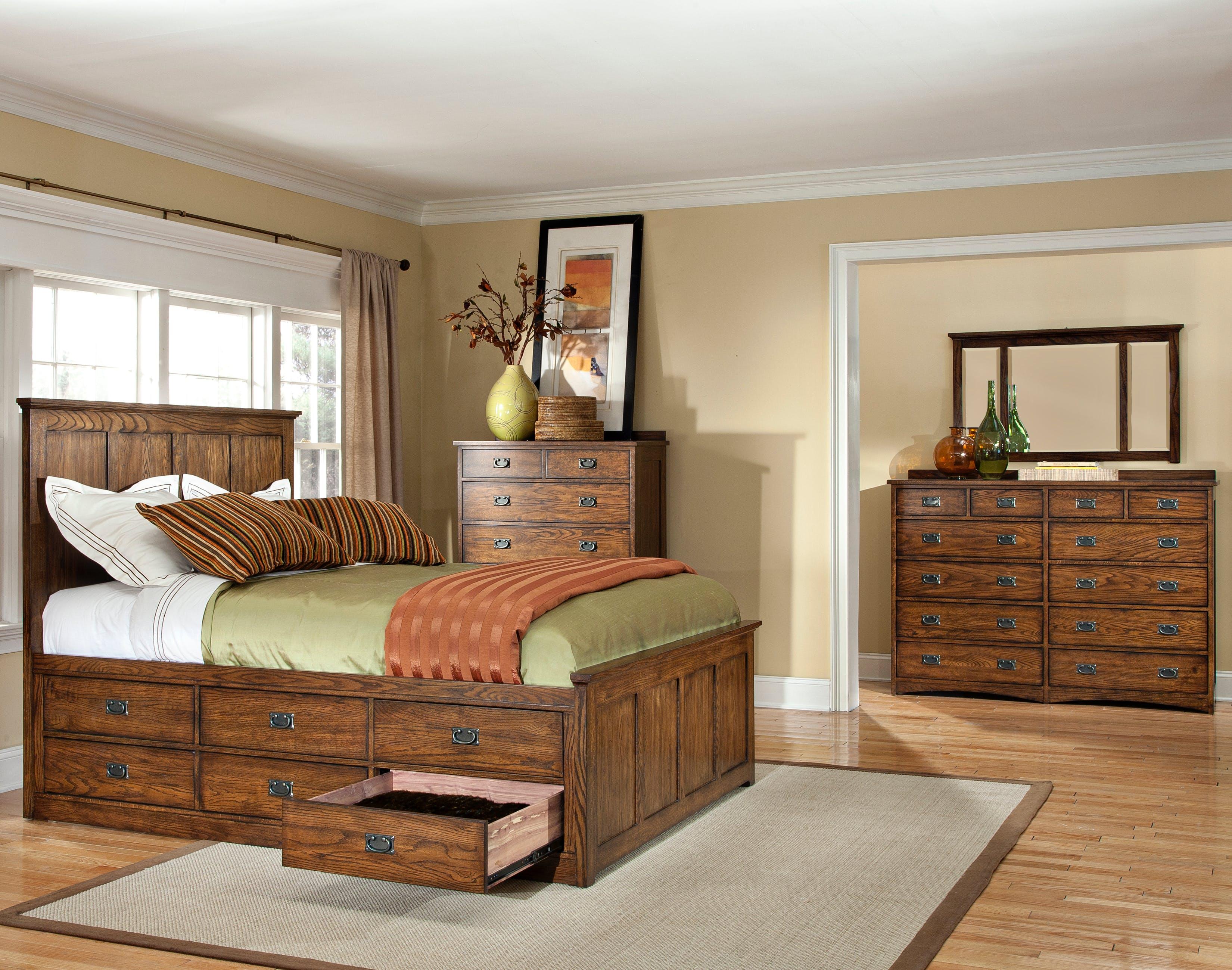 Oak park captains bed intercon furniture
