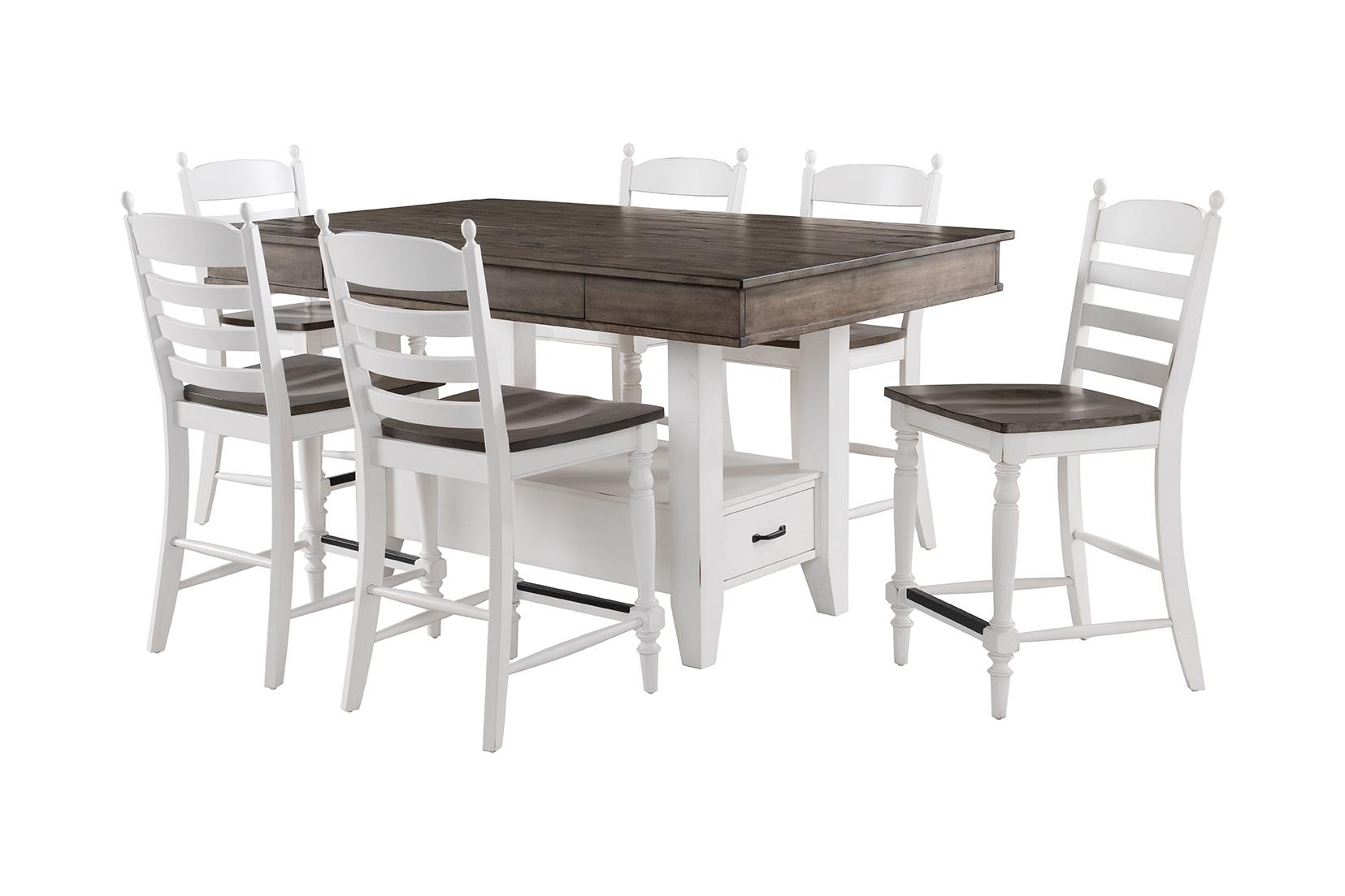 Belgium Farmhouse Counter Table W Drawers Intercon Furniture