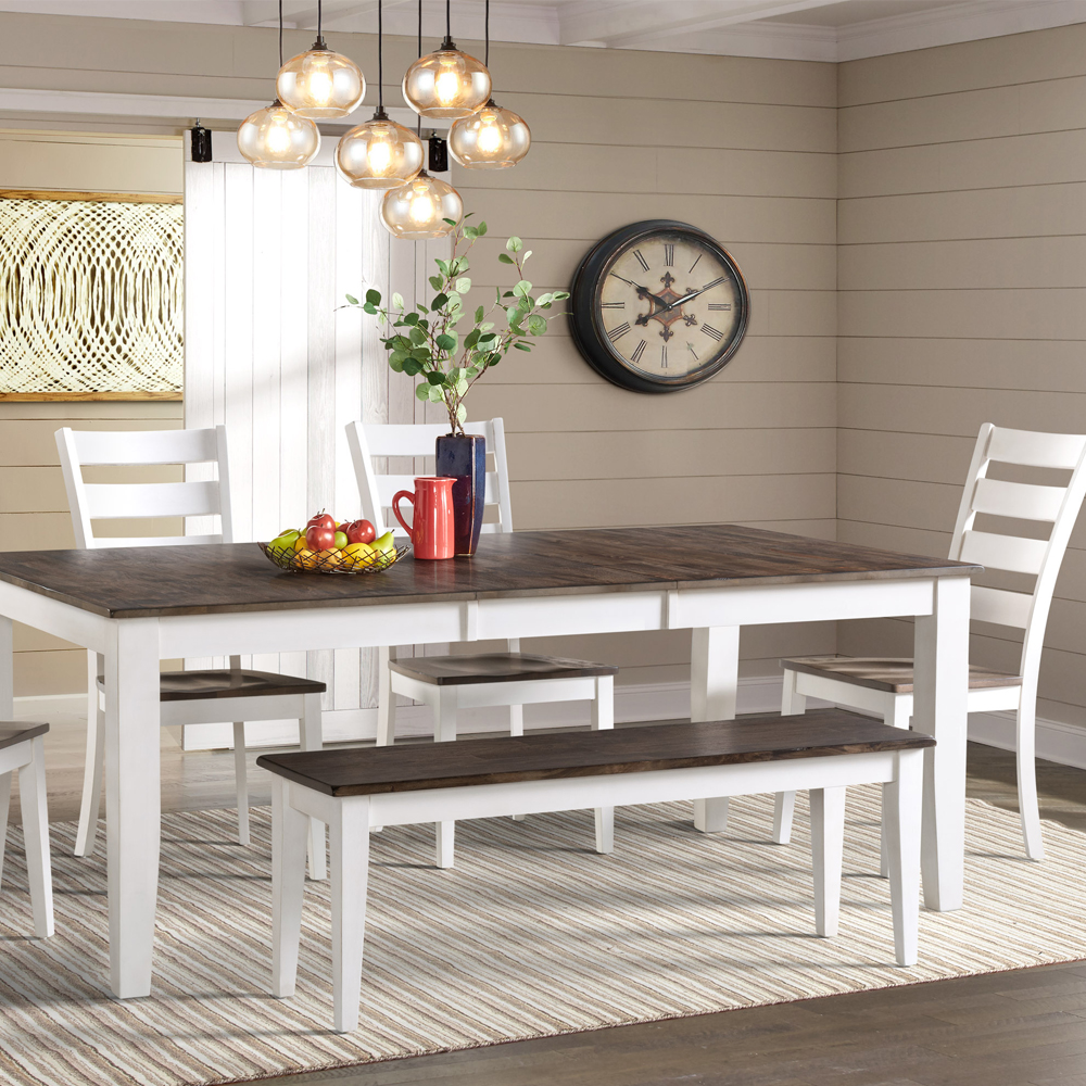 Admirable Kona Dining Bench Gray And White Intercon Furniture Gmtry Best Dining Table And Chair Ideas Images Gmtryco